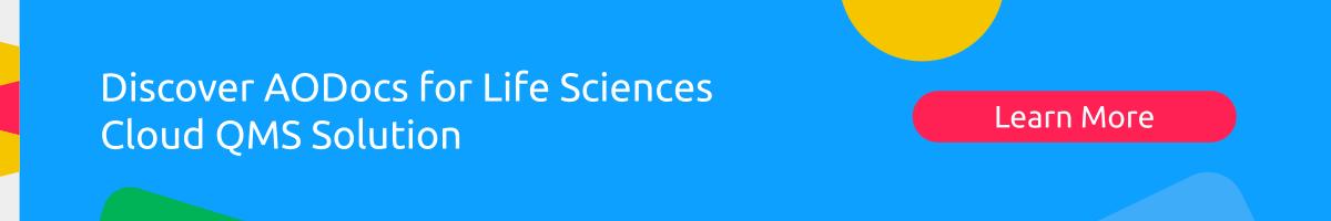 AODocs for QMS Life Sciences