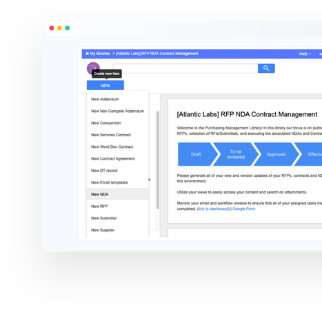 Control the document journey