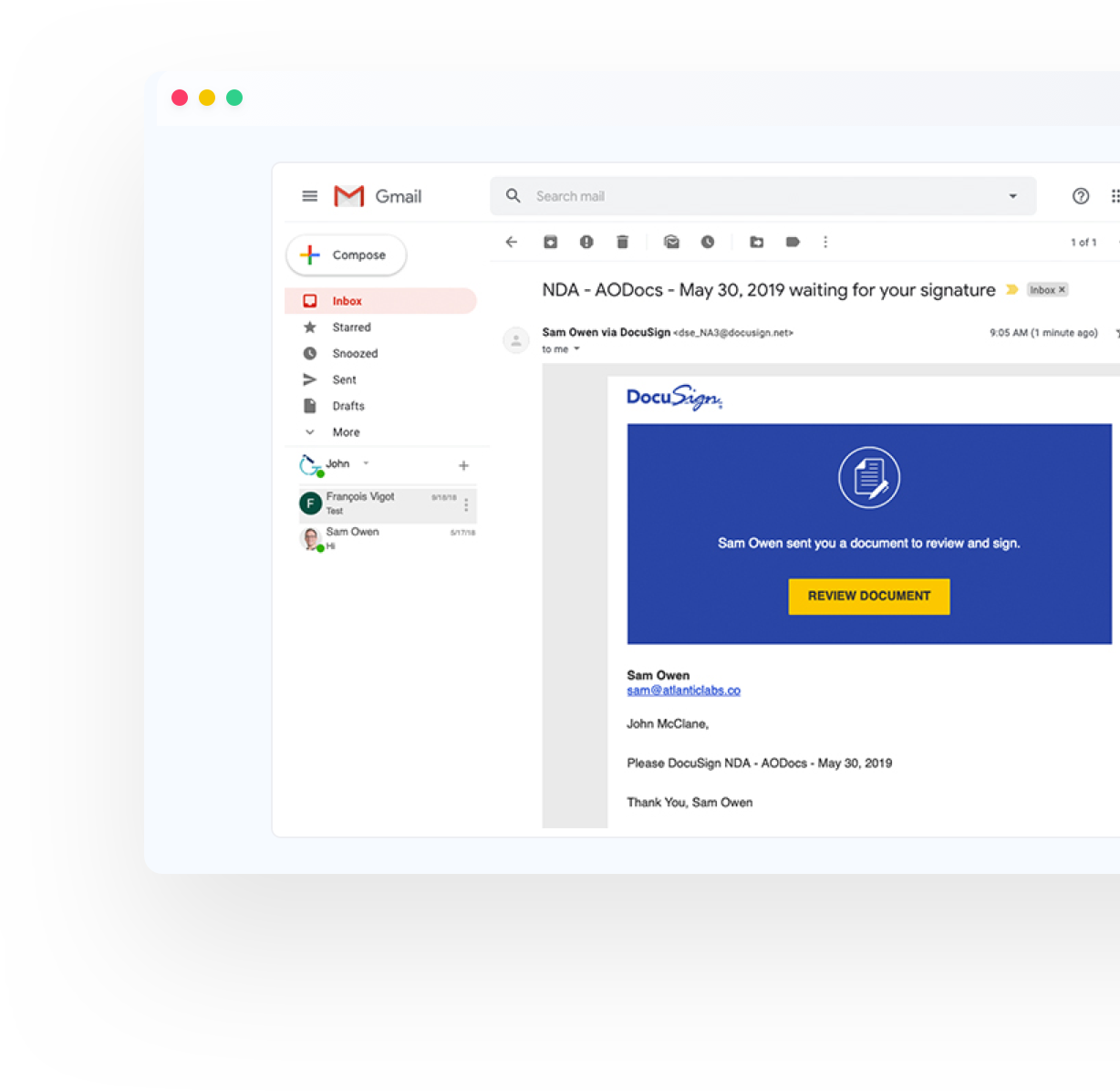 Sign documents from anywhere