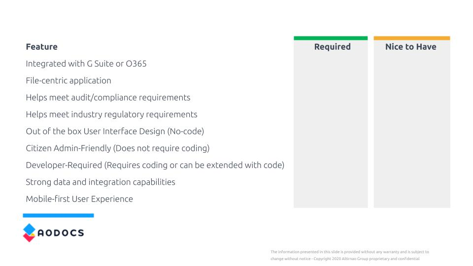 app-maker-replacement-requirements-checklist