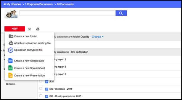 AODocs Screenshot of Secure Document Management