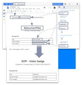 AODocs document assembly screenshot