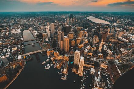 Arial photo of Boston