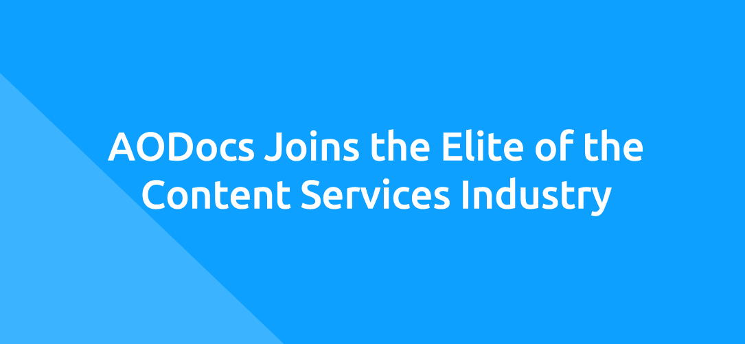 AODocs Joins the Elite of the Content Services Industry