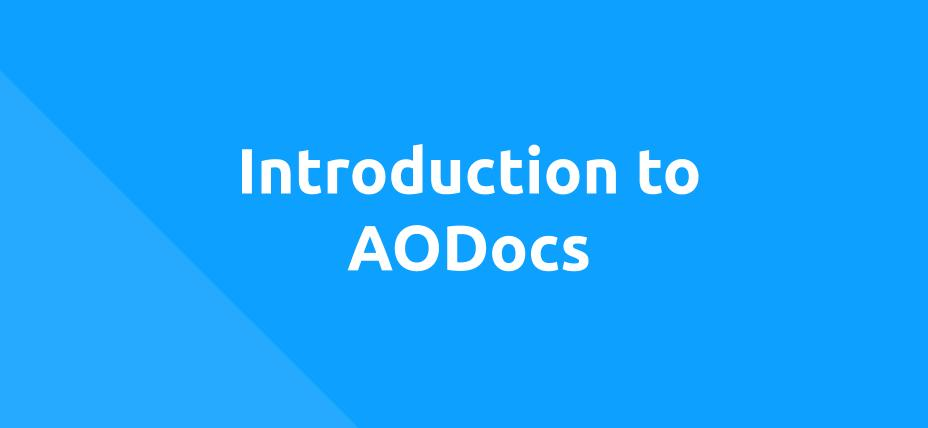 Introduction to AODocs